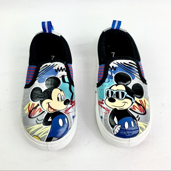 Disney Other - Disney Mickey Mouse Toddler Slip Ons Size 7